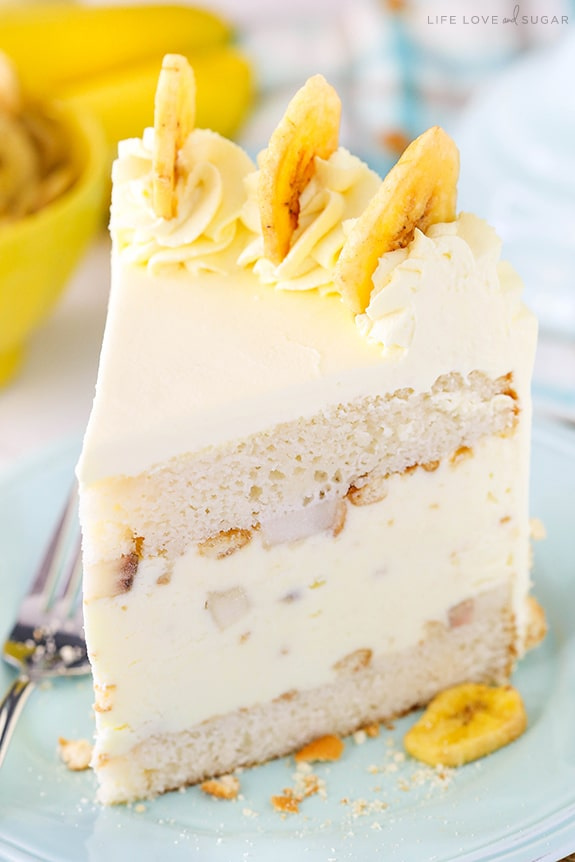 Easy Banana Pudding Ice Cream Cake