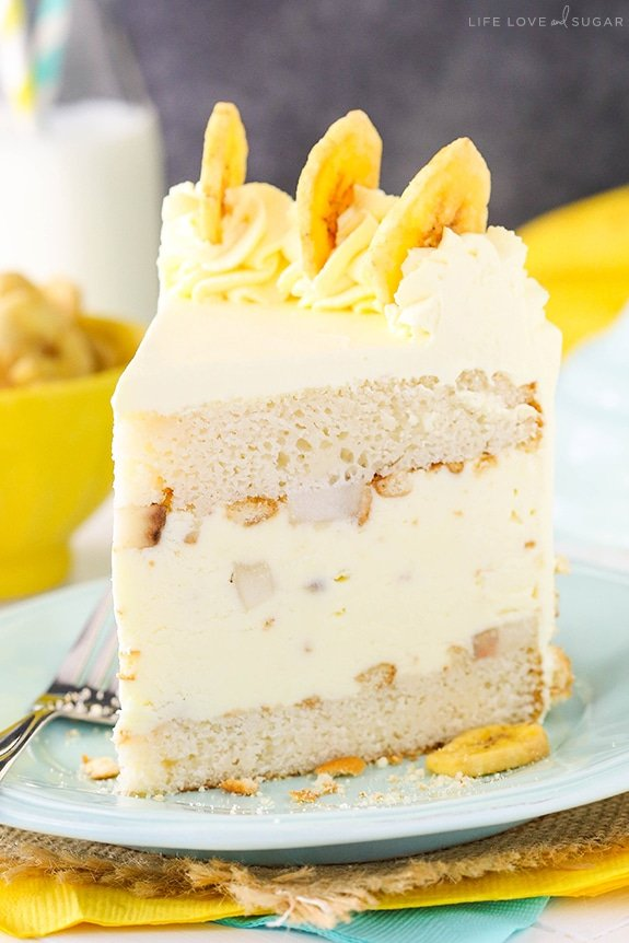 Banana Pudding Ice Cream Cake