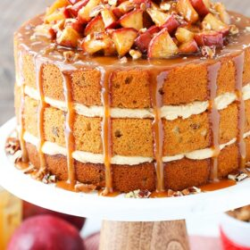 full image of Caramel Apple Pecan Layer Cake