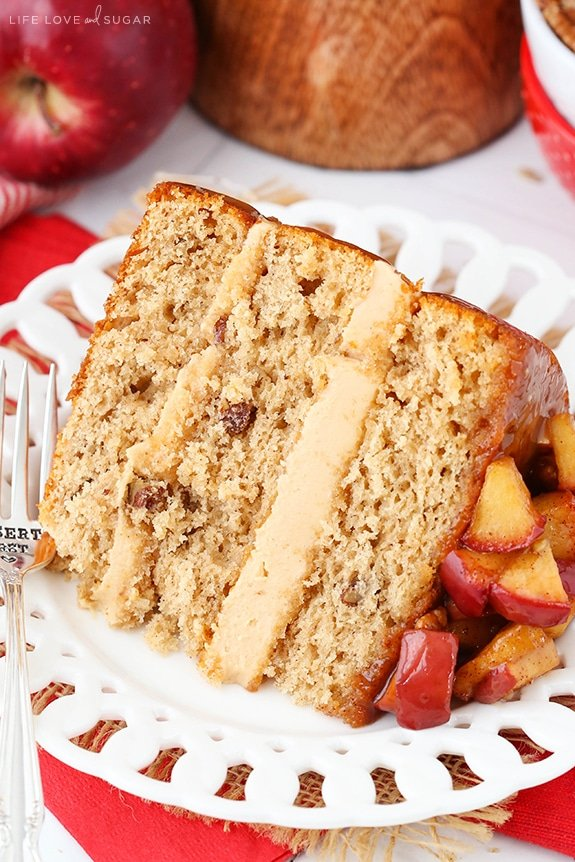 Caramel Apple Pecan Layer Cake recipe