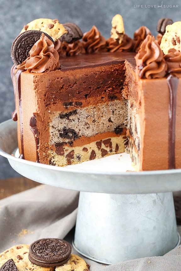 Oreo Brookie Layer Cake Life Love and Sugar