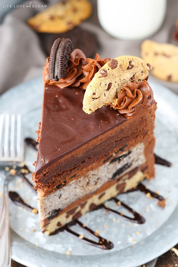 Oreo Brookie Layer Cake Life Love and Sugar