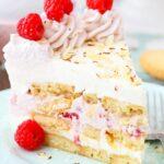 Raspberry Almond Shortbread Icebox Cake