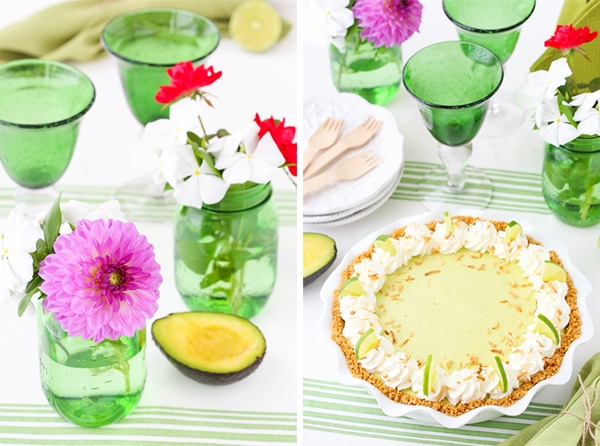 Avocado Key Lime Pie collage