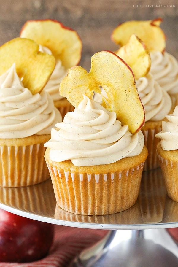 Apple Butter Cupcakes! Great fall dessert recipe!