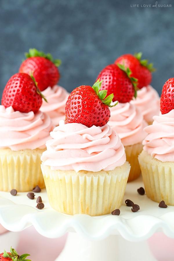 Homemade Neapolitan Cupcakes