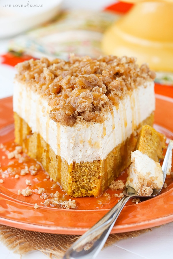 Caramel Pumpkin Cheesecake Dessert