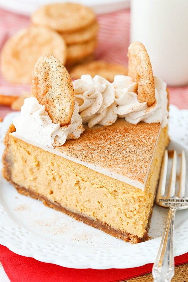 Snickerdoodle Dulce De Leche Cheesecake - cinnamon sugar crust, dulce de leche filling, white chocolate ganache and more cinnamon sugar! Perfect dessert for fall!