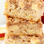 Apple Streusel Bars stacked