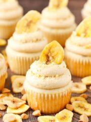 Peanut Butter Banana Cupcake