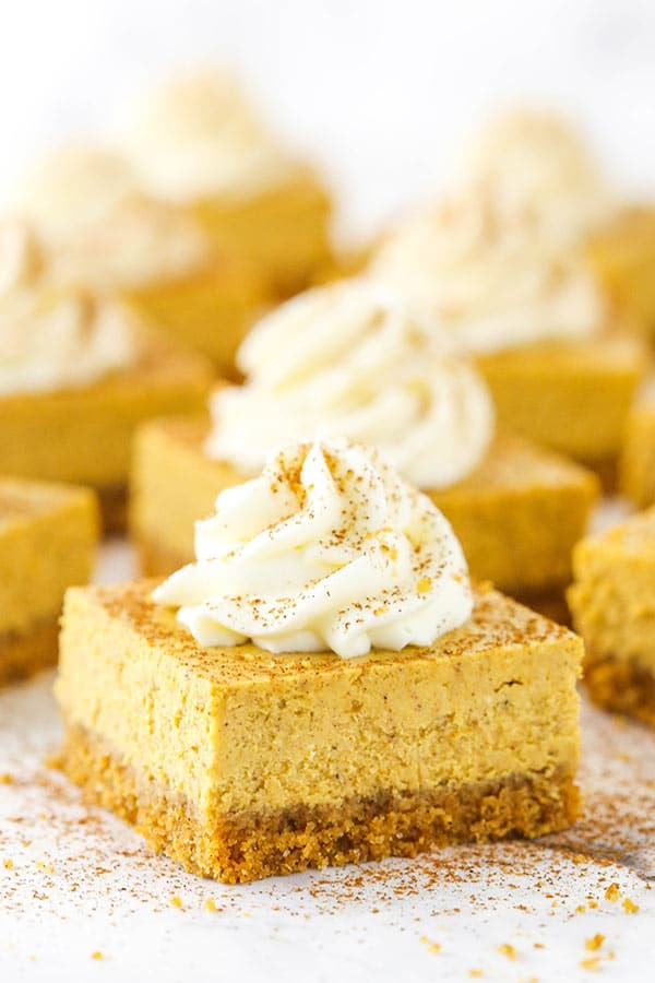 Pumpkin Cheesecake Bars Recipe Easy Thanksgiving Party Food Idea