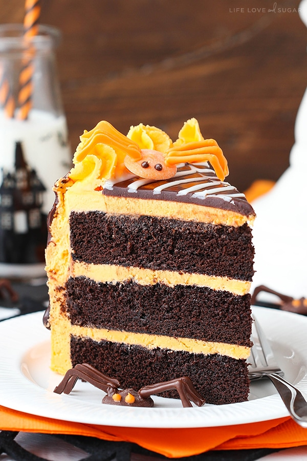 Cake Decorating Vanilla Icing : Spiderweb Chocolate Cake with Vanilla Frosting - Life Love ...
