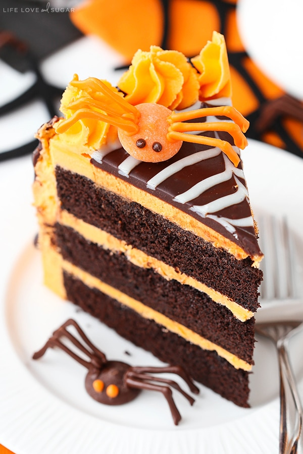 Best Halloween Spiderweb Chocolate Cake