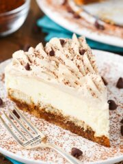 Tiramisu Cheesecake slice