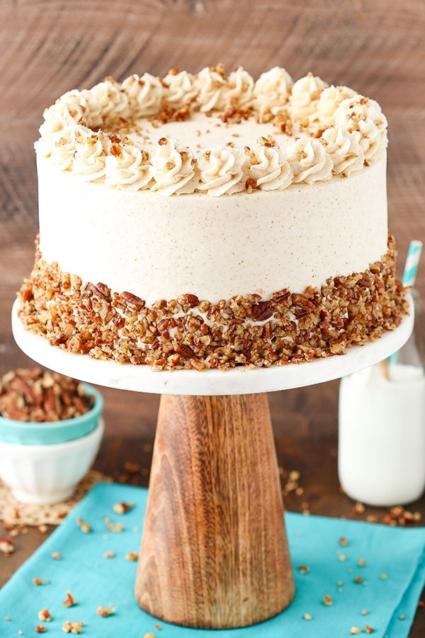 Browned Butter Pecan Layer Cake - Life Love and Sugar