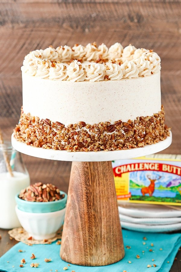 three layer cake browned butter pecan layer cake and sugar 7977