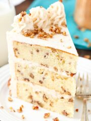 slice of Browned Butter Pecan Layer Cake