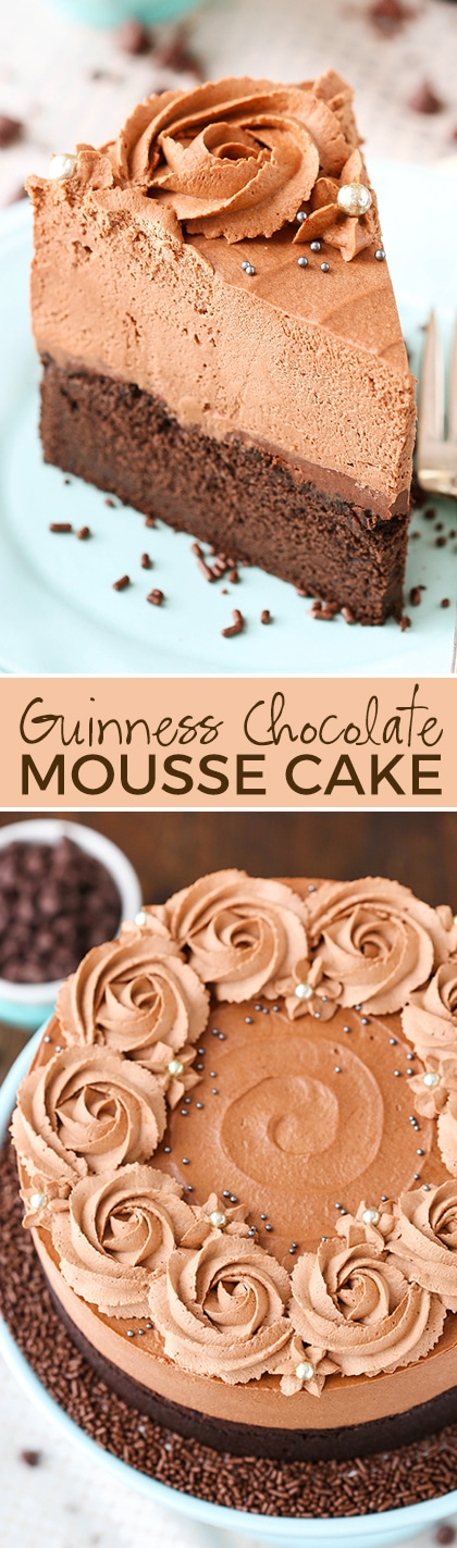Step by step chocolate mousse cake recipe
