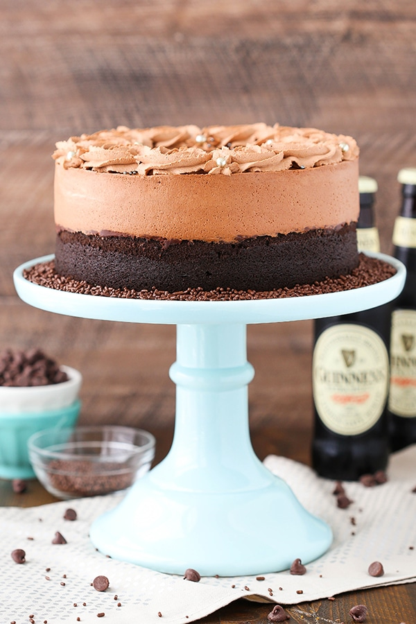 Best Guinness Chocolate Mousse Cake