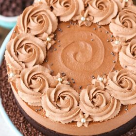 full image of Guinness Chocolate Mousse Cake