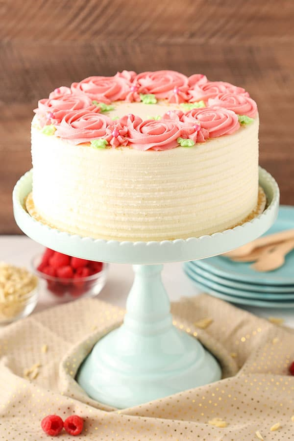 Favorite Raspberry Almond Layer Cake