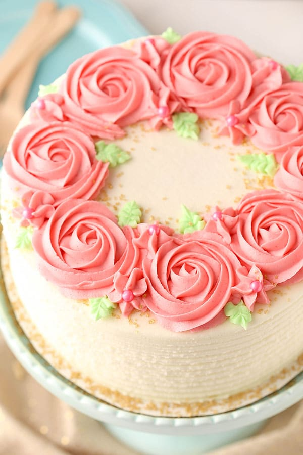 Remarkable Raspberry Almond Layer Cake Almond Cake With Raspberry Frosting Funny Birthday Cards Online Fluifree Goldxyz