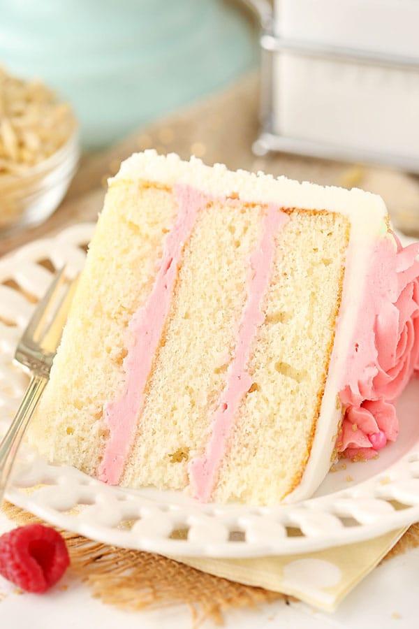 Easy Raspberry Almond Layer Cake
