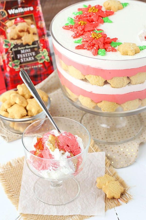 Christmas Red Velvet Shortbread Trifle