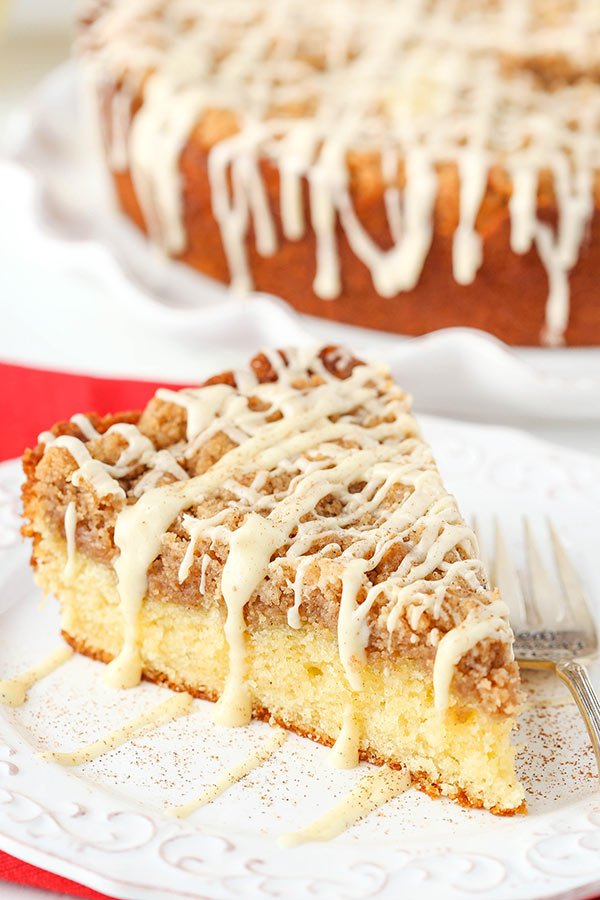 Eggnog Crumb Cake! Perfect for Christmas morning!
