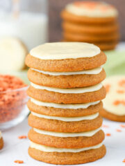 image of stack of Gingerbread Cookies with Eggnog Icing