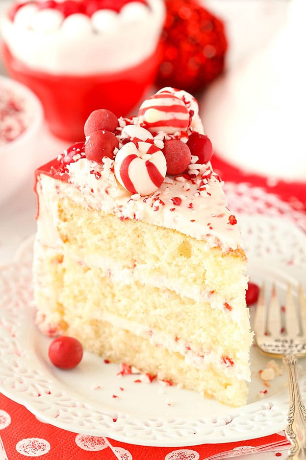Christmas Peppermint Chip Layer Cake recipe