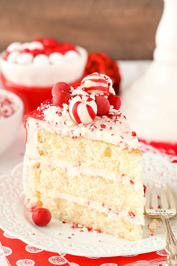 Peppermint Chip Layer Cake slice
