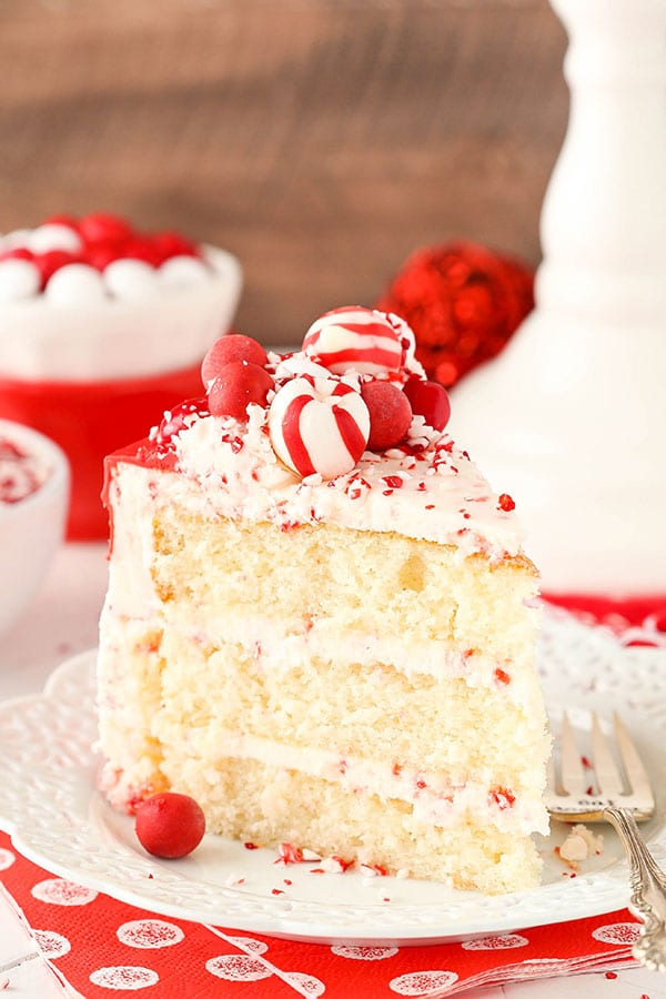 Holiday Peppermint Chip Cake recipe