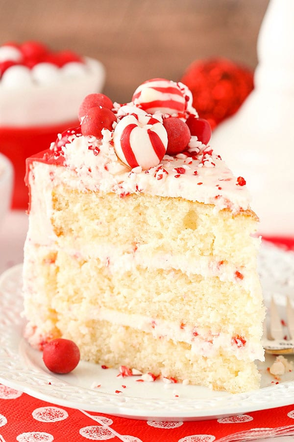 Peppermint Chip Layer Cake recipe