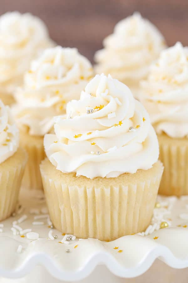 recipe for 36 vanilla cupcakes