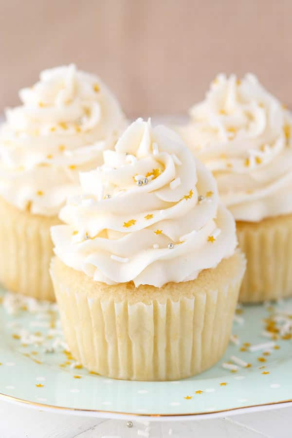 Cake With Cupcake Recipe : Moist Vanilla Cupcakes - Life Love and Sugar