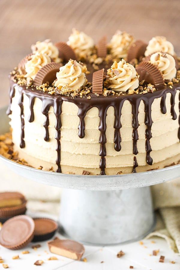 Peanut Butter Chocolate Layer Cake with Reese's Peanut ...