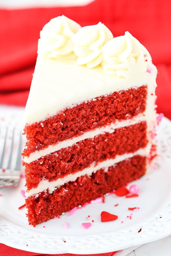 Red Velvet Layer Cake - Life Love and Sugar