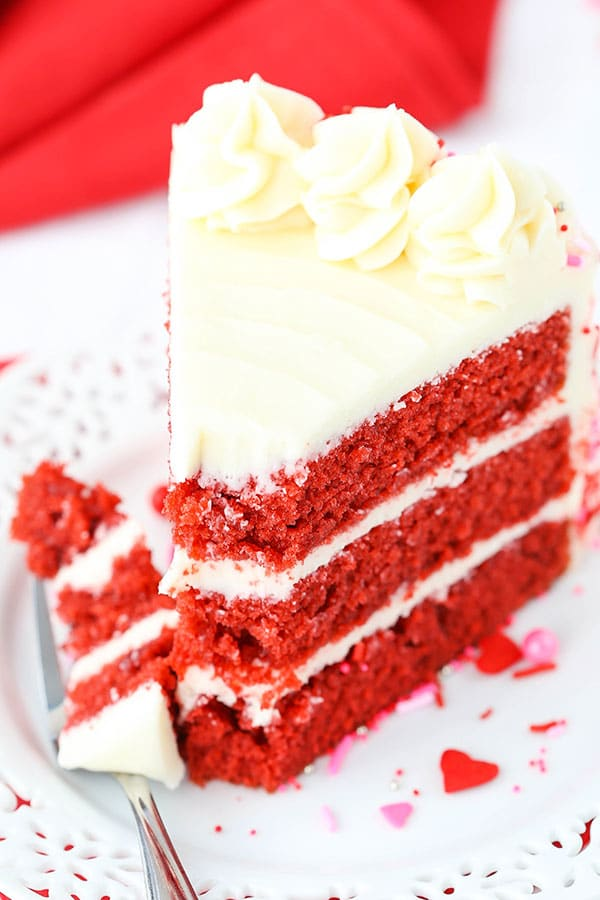 Red Velvet Layer Cake with Cream Cheese Frosting!