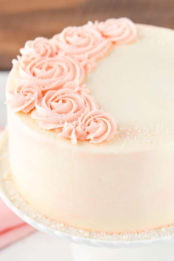 Rose Water Vanilla Layer Cake Life Love And Sugar