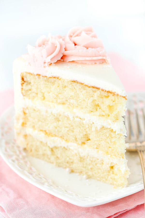 Best Rose Water Vanilla Layer Cake recipe