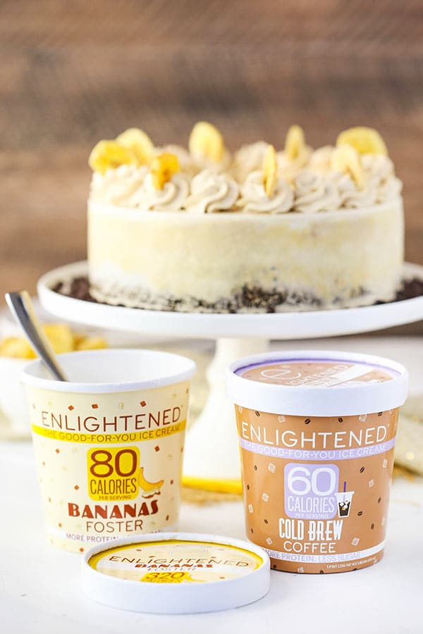 Banana Mocha Chocolate Ice Cream Cake and Enlightened Ice Cream