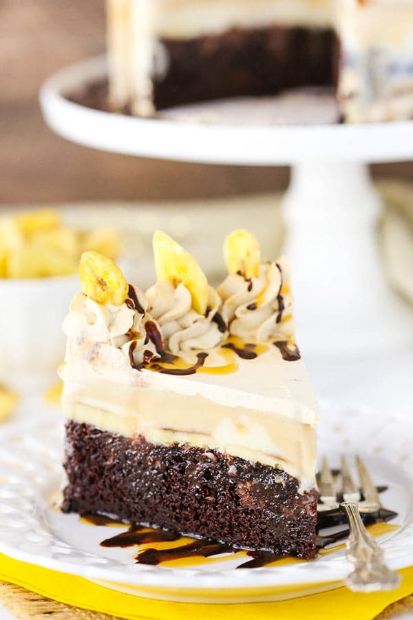 Best Banana Mocha Chocolate Ice Cream Cake