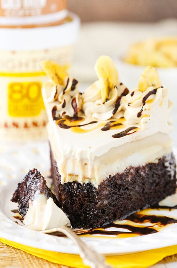 Banana Mocha Chocolate Ice Cream Cake slice