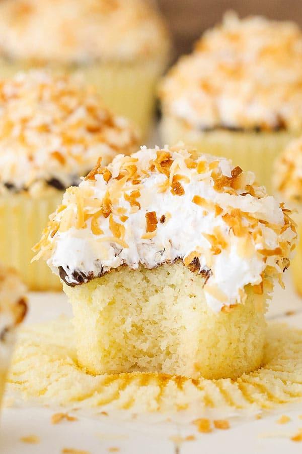 Easy Coconut Macaroon Cupcakes recipe