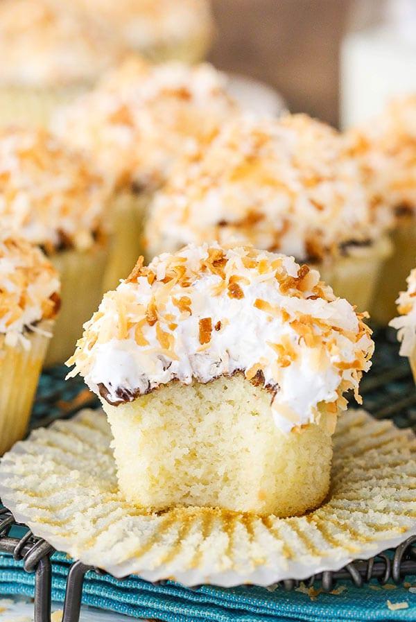 Homemade Coconut Macaroon Cupcakes