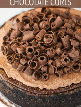 Image of Chocolate Curls on a Cake