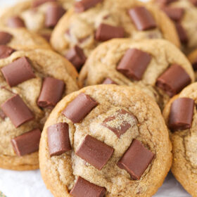 close up image of Mocha Chocolate Chunk Cookies