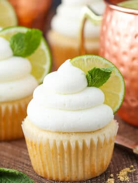 Moscow Mule Cupcake close up image