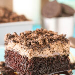 Oreo Chocolate Poke Cake